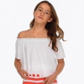 Mayoral 6102-64 Luźna bluzka dziewczęca kolor biały