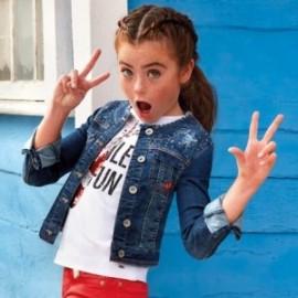 Mayoral 6409-33 Kurtka dziewczęca kolor jeans
