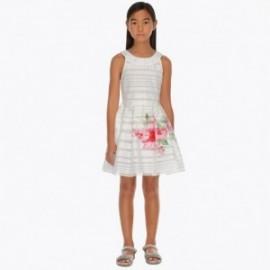 Mayoral 6914-55 Sukienka dziewczęca kolor biały