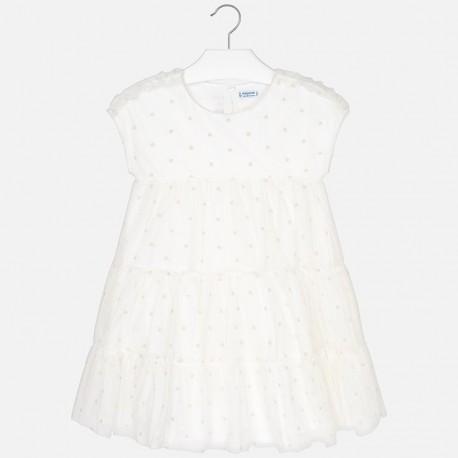 Mayoral 6923-47 Sukienka dziewczęca kolor krem