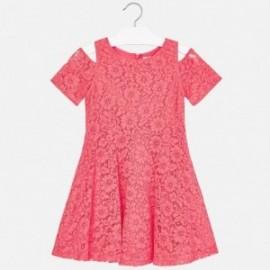 Mayoral 6933-51 Sukienka dziewczęca kolor koralowy