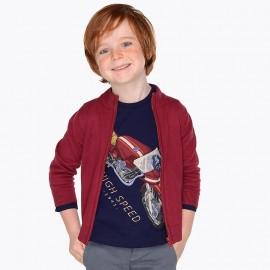 Mayoral 327-10 Sweter chłopięcy kolor bordo