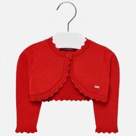 Mayoral 306-28 Sweter dziewczęcy kolor czerwony