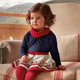 Mayoral 2938-10 Sukienka dziewczęca kolor granat