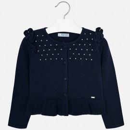 Mayoral 4328-42 Sweter dla dziewczynki kolor granat