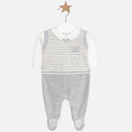 Mayoral 2602-34 Pajacyk niemowlęcy dla chłopca kolor szary