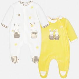 Mayoral 2748-24 piżamka dziewczęca 2 szt kolor żółty