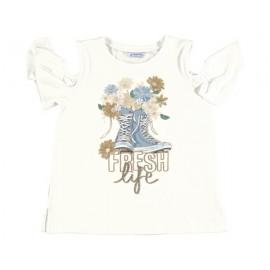 Mayoral 6006-35 Koszulka dziewczęca kolor krem
