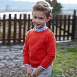 Mayoral 311-38 Sweter chłopięcy pomarańczowy