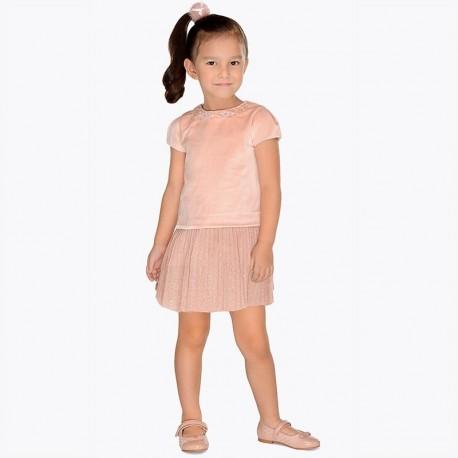 Mayoral 4940-78 Sukienka dziewczęca kolor nude