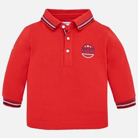 Mayoral 2110-29 Koszulka chłopięca polo z długim rękawem czerwień
