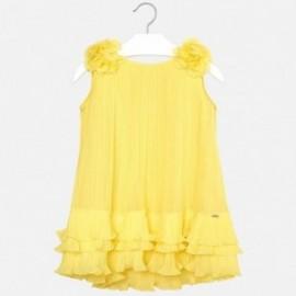 Mayoral 3926-61 Sukienka plisowana dziewczęca żółta