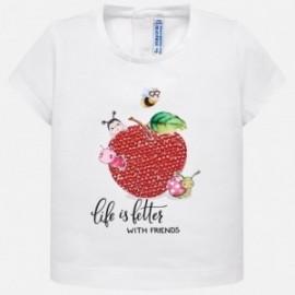 Mayoral 1014-13 Koszulka dziewczęca biała