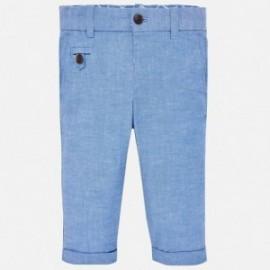 Mayoral 1522-75 Spodnie lniane chłopięce niebieskie