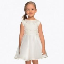 Mayoral 3911-91 Sukienka dziewczęca kremowa