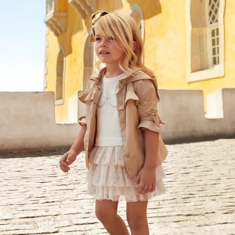 Mayoral 3939-28 Sukienka dla dziewczynki złota
