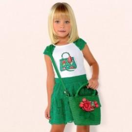Mayoral 3958-70 Komplet dziewczęcy z koronki zielony