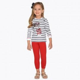 Mayoral 748-56 Leginsy dziewczęce kolor czerwony