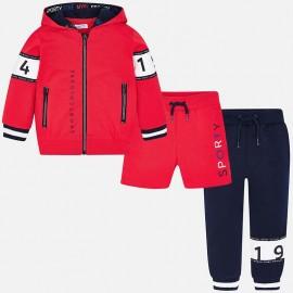 Mayoral 3809-42 Dres chłopięcy 3 części kolor czerwony