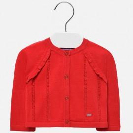 Mayoral 1309-68 Sweter dziewczęcy kolor czerwony