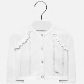 Mayoral 1309-67 Sweter dziewczęcy kolor biały