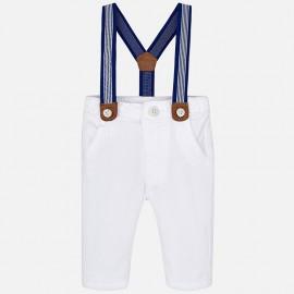 Mayoral 1512-50 Spodnie chłopięce kolor biały