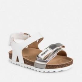 Mayoral 41040-18 Sandały dziewczęce na korku białe