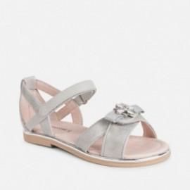 Mayoral 43043-30 Sandały dziewczęce srebrne