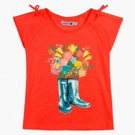 Boboli bluzka dla dziewczynki czerwona 407045-3631