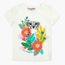 Boboli t-shirt dla dziewczynki biały 407113-1111