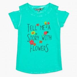 Boboli t-shirt dla dziewczynki niebieski 407124-4459