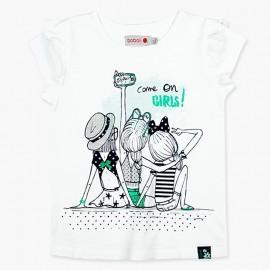 Boboli t-shirt dla dziewczynki biały 417035-1100