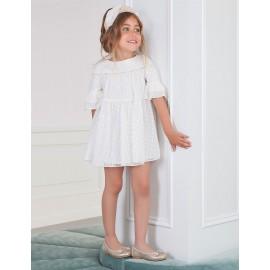 Abel & Lula 5005-3 Sukienka dziewczęca kremowa