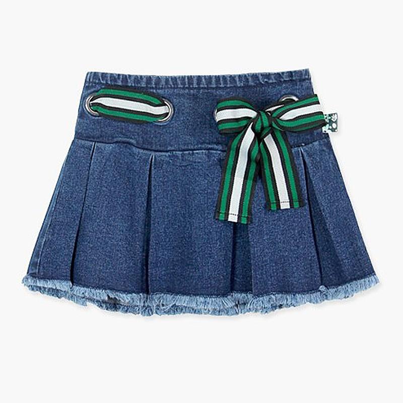 Boboli Spódnica jeansowa dla dziewczynki niebieska 417080 BLUE