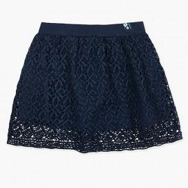 Boboli Koronkowa spódnica dla dziewczynki granat 417181-2440