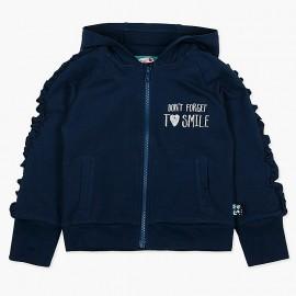 Boboli Bluza dla dziewczynki granatowa 417192-2440