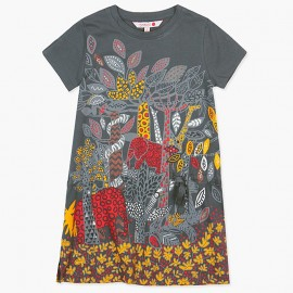Boboli bawełniana sukieneczka dla dziewczynki grafitowa 427193-8076