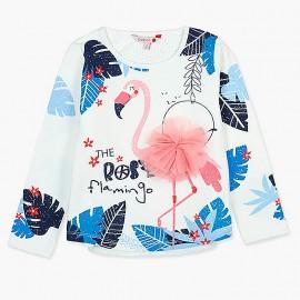 Boboli koszulka dla dziewczynki biała 437004-1100