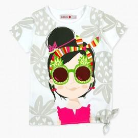 Boboli koszulka dla dziewczynki biała 447050-1100