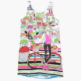 Boboli sukieneczka dla dziewczynki kolorowa 447139-3633