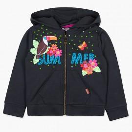 Boboli Bluza dla dziewczynki grafitowa 447173-8076