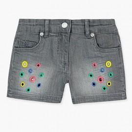 Boboli spodenki jeans dla dziewczynki szare 467119-GREY