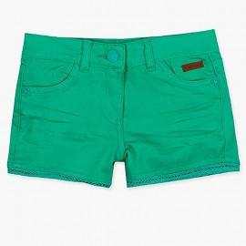 Boboli szorty dla dziewczynki zielone 497011-4455