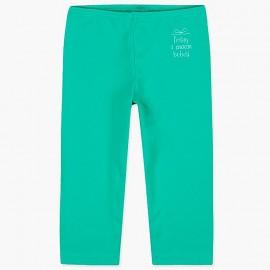 Boboli legginsy 3/4 dla dziewczynki zielone 497077-4455