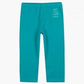 Boboli legginsy 3/4 dla dziewczynki turkus 497077-4460
