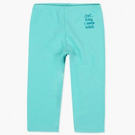 Boboli legginsy 3/4 dla dziewczynki morski 497077-4459