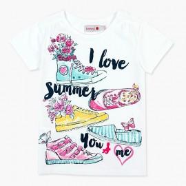 Boboli koszulka dla dziewczynki biała 457028-1100
