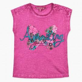 Boboli t-shirt dla dziewczynki fioletowy 457118-3635