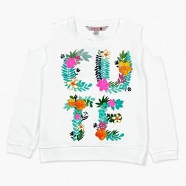 Boboli koszulka dla dziewczynki biała 457163-1100