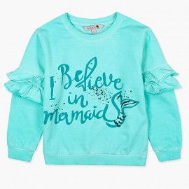 Boboli Bluza dla dziewczynki niebieska 477132-4459